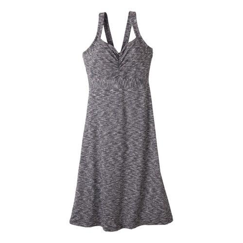 Womens Prana Amaya Spacedye Dress Fitness Skirts - Coal XL