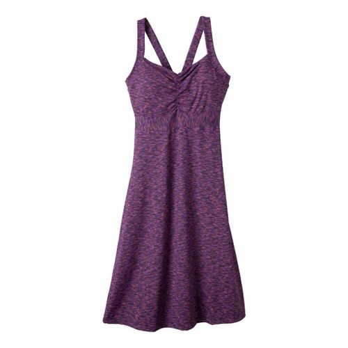 Womens Prana Amaya Spacedye Dress Fitness Skirts - Dark Eggplant XL