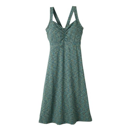 Womens Prana Amaya Spacedye Dress Fitness Skirts - Teal S