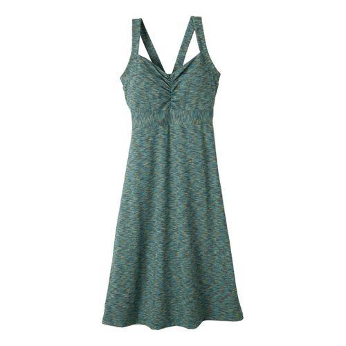 Womens Prana Amaya Spacedye Dress Fitness Skirts - Teal XL