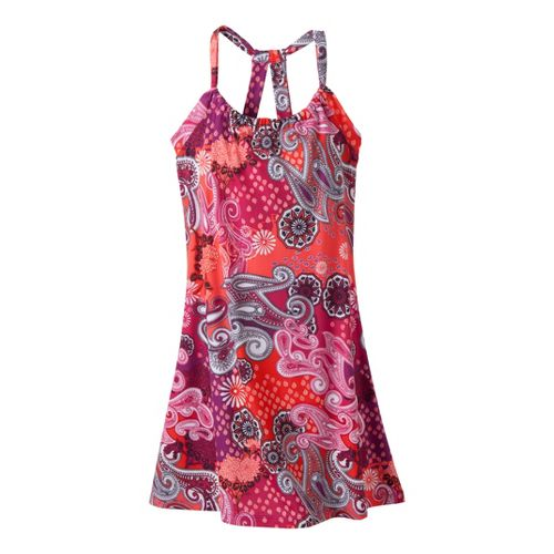 Womens Prana Quinn Dress Short Length Fitness Skirts - Berry Garden L