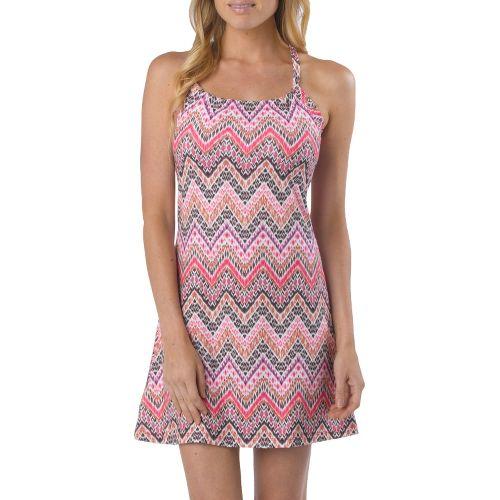 Womens Prana Quinn Dress Short Length Fitness Skirts - Boysenberry Tempo XS