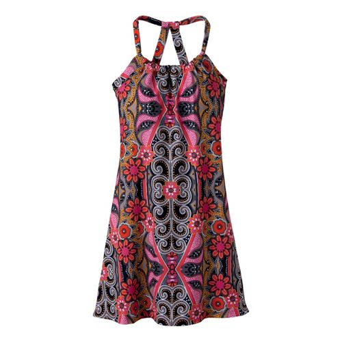 Womens Prana Quinn Dress Short Length Fitness Skirts - Coral Malibu S