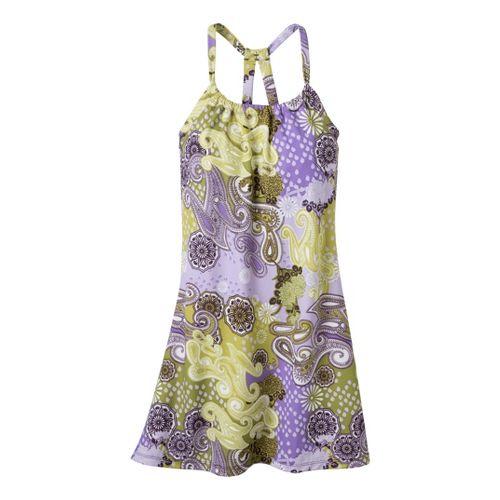 Womens Prana Quinn Dress Short Length Fitness Skirts - Dark Eggplant Garden L