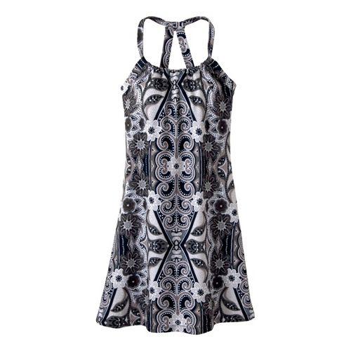 Womens Prana Quinn Dress Short Length Fitness Skirts - Gravel Malibu L