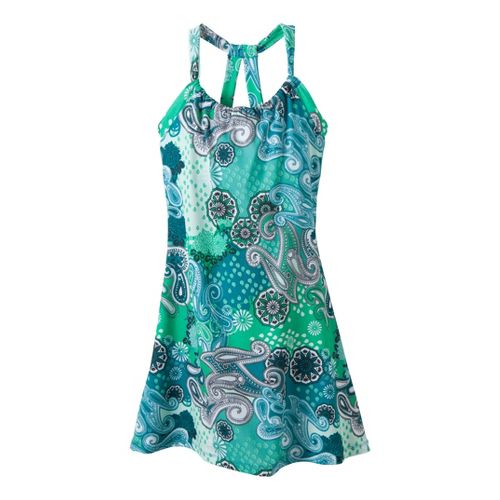 Womens Prana Quinn Dress Short Length Fitness Skirts - Teal Garden M
