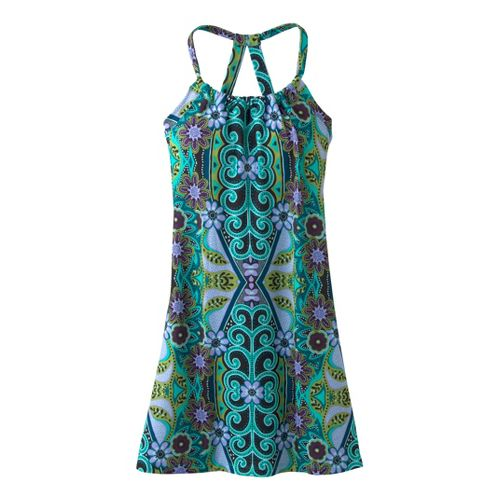 Womens Prana Quinn Dress Short Length Fitness Skirts - Waterfall Malibu L
