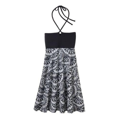 Womens Prana Solana Dress Fitness Skirts - Black Floral M
