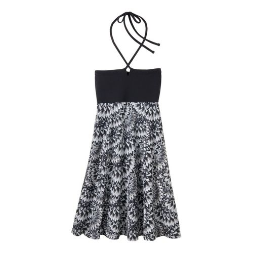 Womens Prana Solana Dress Fitness Skirts - Black Floral XL