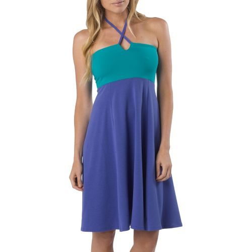 Womens Prana Solana Dress Fitness Skirts - Sail Blue S
