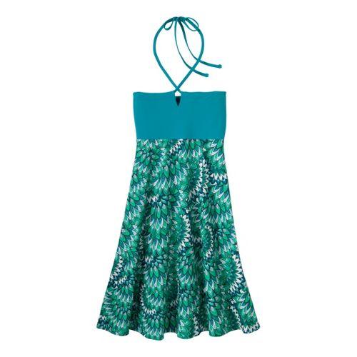 Womens Prana Solana Dress Fitness Skirts - Turq Flora M