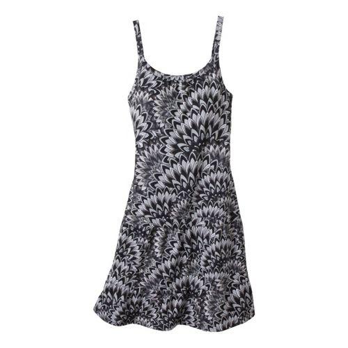 Womens Prana Lexi Dress Fitness Skirts - Black Floral L