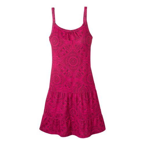 Womens Prana Lexi Dress Fitness Skirts - Fuchsia Mayan XL