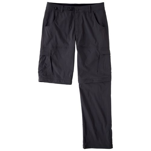 Mens Prana Stretch Zion Convertible Full Length Pants - Charcoal XLS