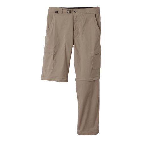 Mens Prana Stretch Zion Convertible Full Length Pants - Dark Khaki L