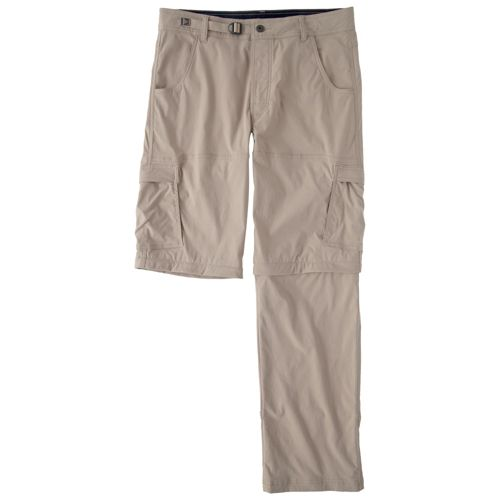 Mens Prana Stretch Zion Convertible Full Length Pants - Khaki XLS