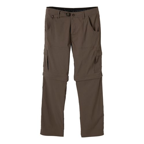 Mens Prana Stretch Zion Convertible Full Length Pants - Mud L