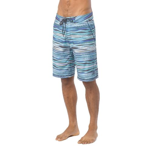 Mens Prana Linear Lined Shorts - Blue Jay 36