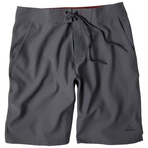 Mens Prana Linear Lined Shorts - Gravel 28
