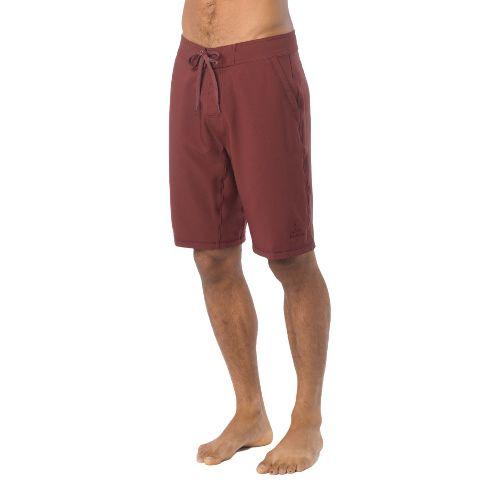 Mens Prana Linear Lined Shorts - Raisin 38