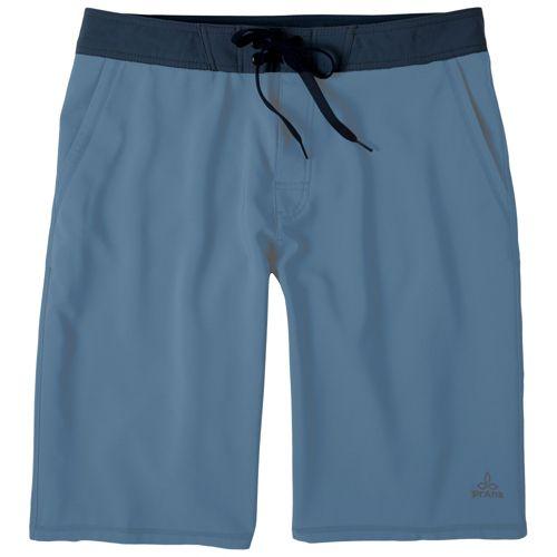 Mens Prana Linear Lined Shorts - Slate 28
