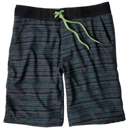 Mens Prana Linear Lined Shorts - Tracks Black 28