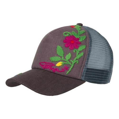 Prana Embroidered Trucker Headwear - Charcoal