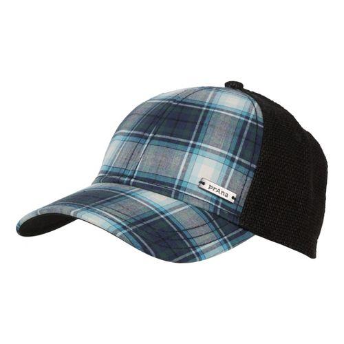 Mens Prana Alfie Ball Cap Headwear - Blue Plaid