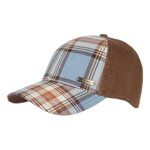 Mens Prana Alfie Ball Cap Headwear - Espresso Plaid