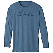 Mens Prana Heathered Performance Long Sleeve No Zip Technical Tops