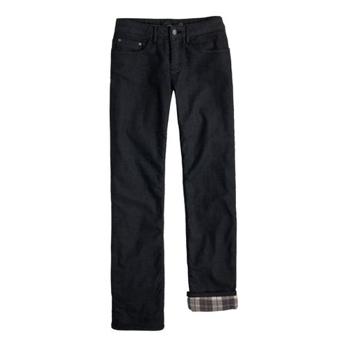 Womens Prana Lined Boyfriend Jean Full Length Pants - Black 10