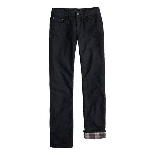 Womens Prana Lined Boyfriend Jean Full Length Pants - Black 4