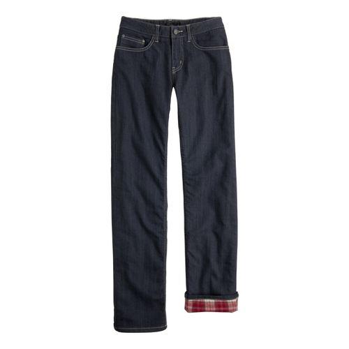 Womens Prana Lined Boyfriend Jean Full Length Pants - Denim OS