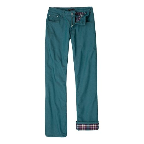 Womens Prana Lined Boyfriend Jean Full Length Pants - Deep Teal OS
