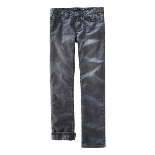 Womens Prana Lined Boyfriend Jean Full Length Pants - Grey 12