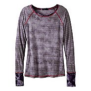 Womens Prana Zoe Long Sleeve No Zip Technical Tops