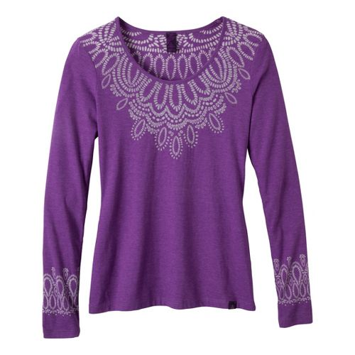 Womens Prana Chelsea Long Sleeve No Zip Technical Tops - Amethyst M