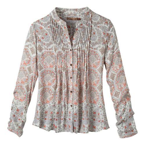 Womens Prana Evelyn Shirt Long Sleeve No Zip Technical Tops - Winter L