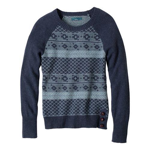 Womens Prana Ramona Sweater Long Sleeve No Zip Technical Tops - Blue Ridge M