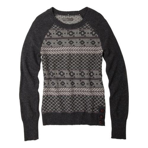 Womens Prana Ramona Sweater Long Sleeve No Zip Technical Tops - Coal M
