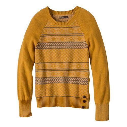Womens Prana Ramona Sweater Long Sleeve No Zip Technical Tops - Sahara L