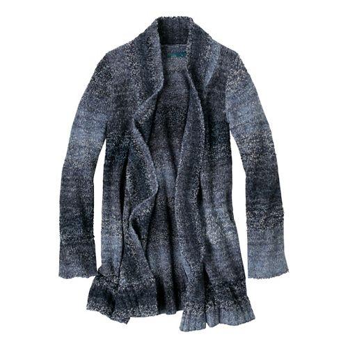 Womens Prana Rhonda Duster Warm-Up Unhooded Jackets - Blue Ridge L