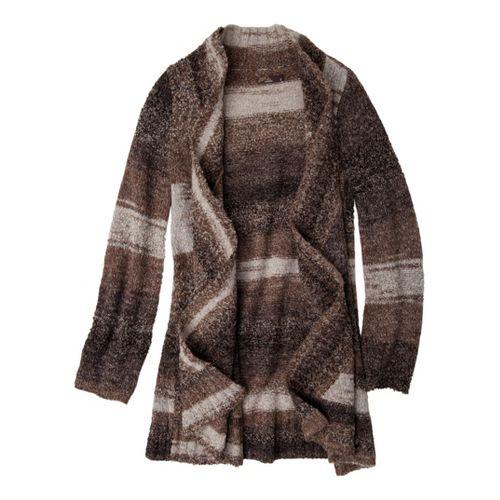 Womens Prana Rhonda Duster Warm-Up Unhooded Jackets - Espresso XL