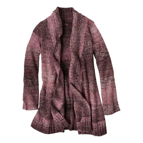 Womens Prana Rhonda Duster Warm-Up Unhooded Jackets - Mahogany XS