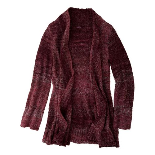 Womens Prana Rhonda Duster Warm-Up Unhooded Jackets - Red Rock XL