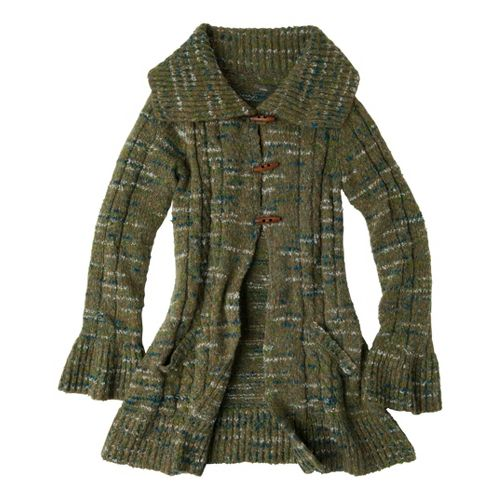 Womens Prana Giselle Duster Warm-Up Unhooded Jackets - Ivy M