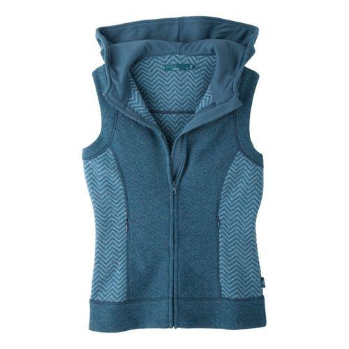 Womens Prana Maura Outerwear Vests - Blue Yonder L
