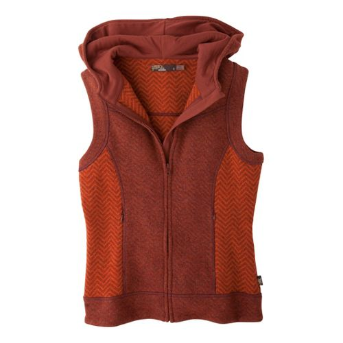 Womens Prana Maura Outerwear Vests - Picante S