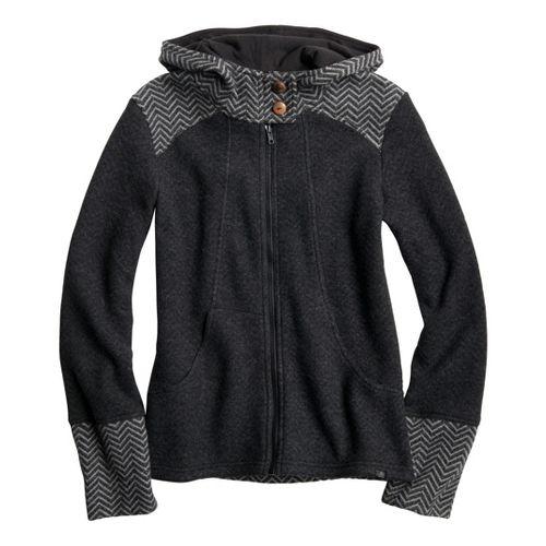 Womens Prana Eden Outerwear Jackets - Charcoal XS