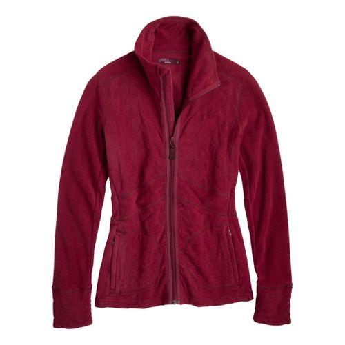 Womens Prana Dee Dee Outerwear Jackets - Plum Red XL